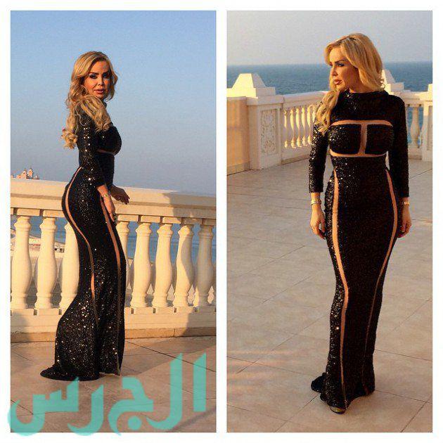 بالصورة: رولا تتعرض للانتقادات بسبب فستانها الشفاف