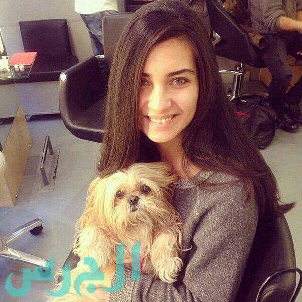 التركية لميس بدون مكياج ومع كلبها