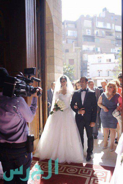 الصور الأولى من زفاف ملكة جمال مصر الآن