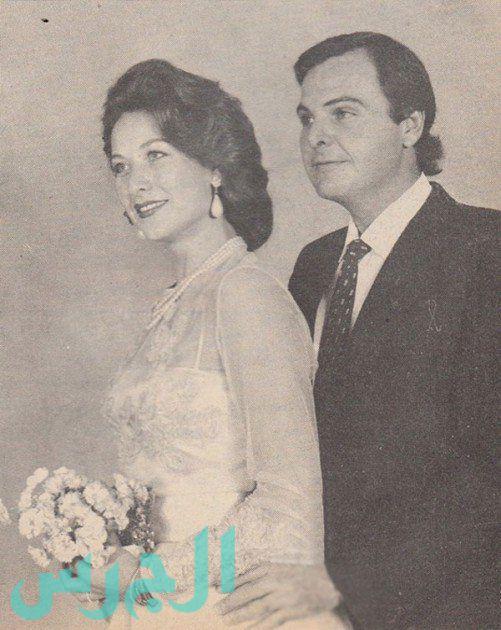 صورة نادرة من زفاف رغدة