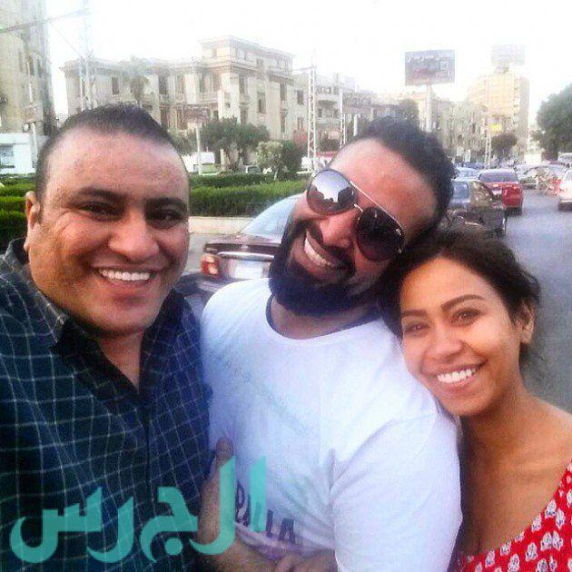 شيرين عبد الوهاب وشقيقها وأحمد سعد