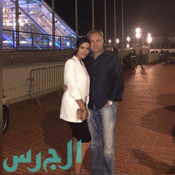 نادين نجيم وزوجها