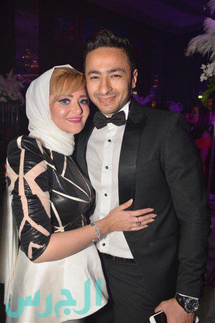 صورة اسماء سميح من زفاف شقيقة حمادة هلال