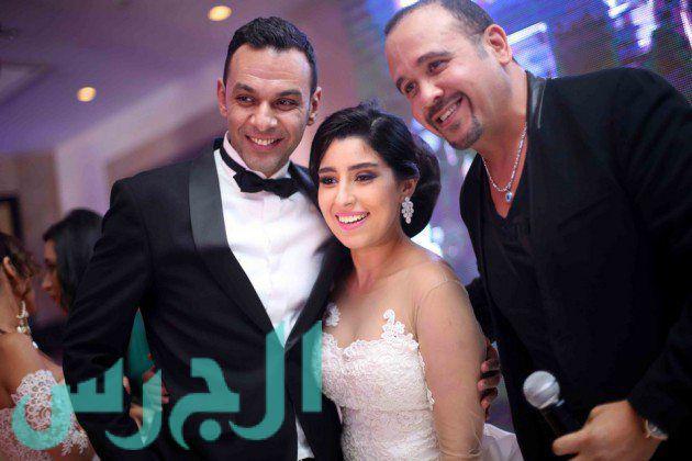 أيتن عامر وعريسها وهشام عباس