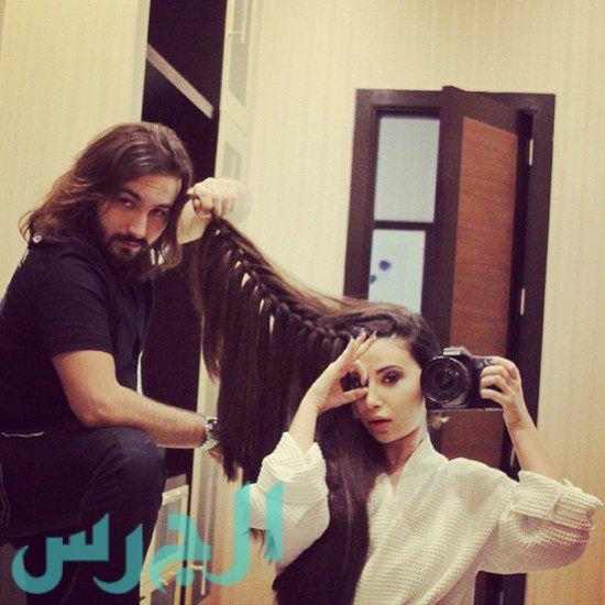جيهان شقيقة ميريام فارس مع الكوافير
