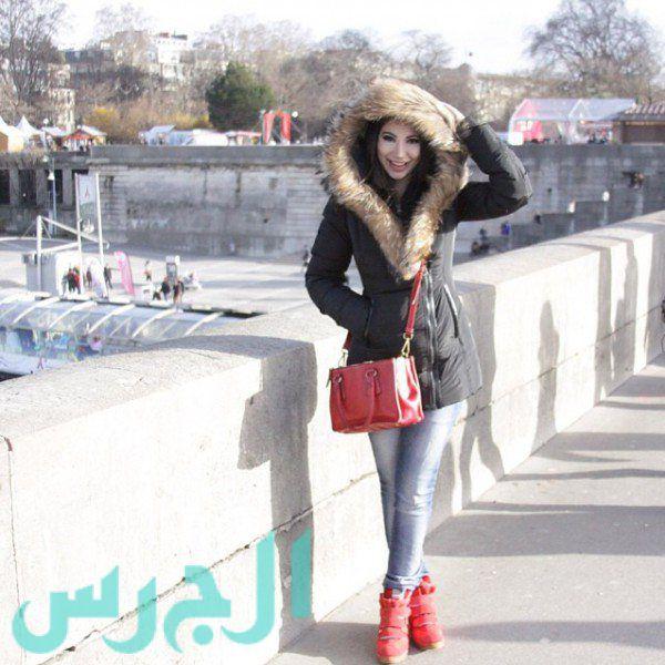 جيهان شقيقة ميريام فارس في عز ثلج لبنان