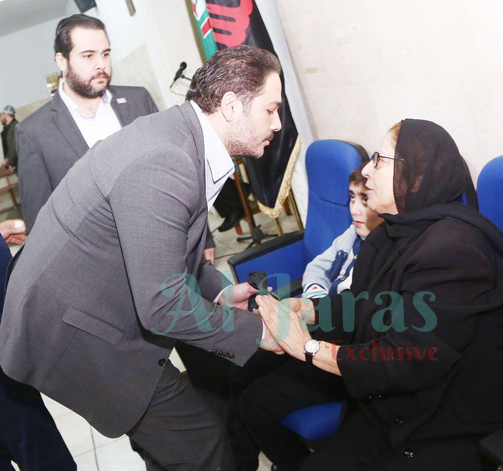 رامي عياش والدة زياد برجي