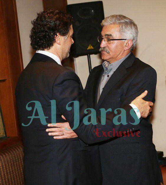 العميد علي الحاج معزياً راغب