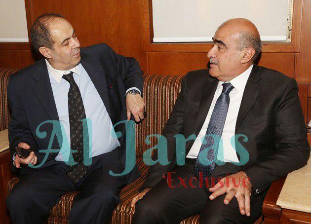 الوزير باسم السبع ومحمد شقيق راغب محمد