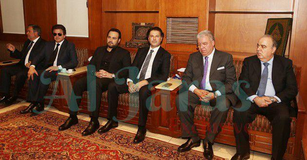 الوزير محمد جواد خليفة، الوزير نهاد المشنوق، راغب وعاصي ووليد توفيق