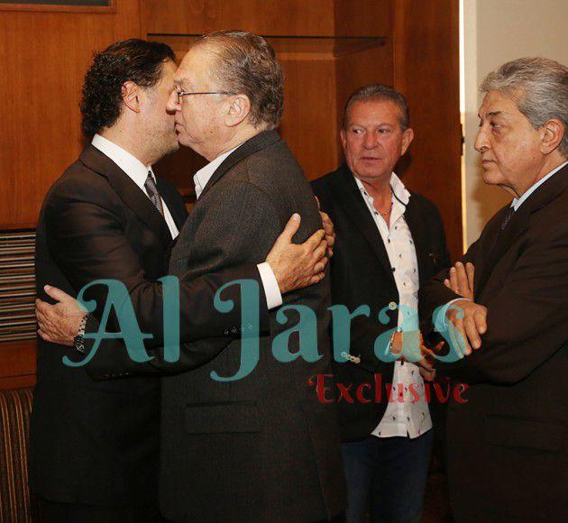 مستشار الرئيس الحريري السابق سليم دياب يقدم التعازي لراغب علامة