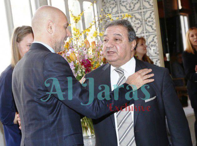 ريكاردو كرم يستقبل نقيب الصحافيين عوني الكعكي