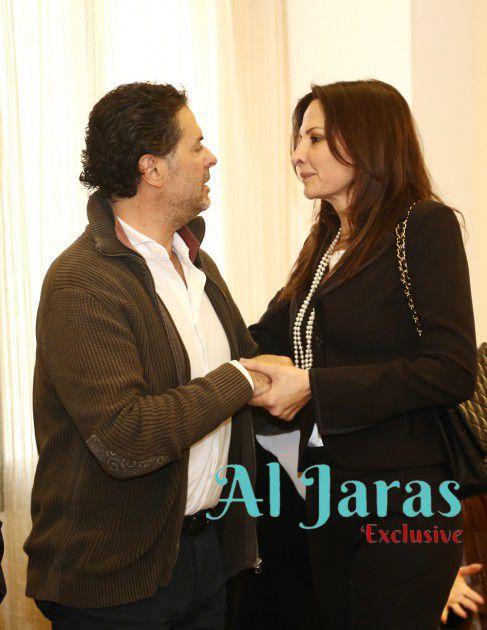 الإعلامية جومانة بوعيد والسوبر ستار راغب علامة