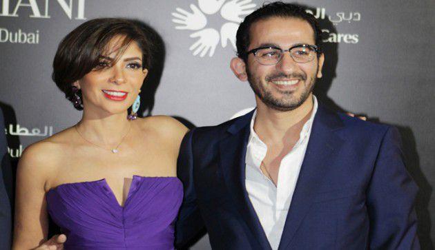 النجمان المصريان أحمد حلمي ومنى زكي