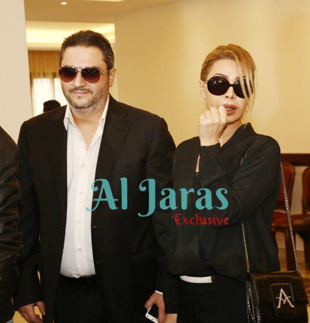 نوال الزغبي مع مدير أعمالها السابق باسكال مغامس