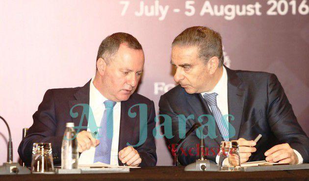 الوزيران ريمون عريجي وميشال  فرعون