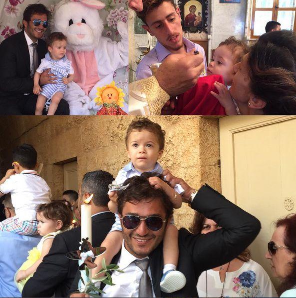 جورج الراسي يحتفل بالعيد مع ابنه جو