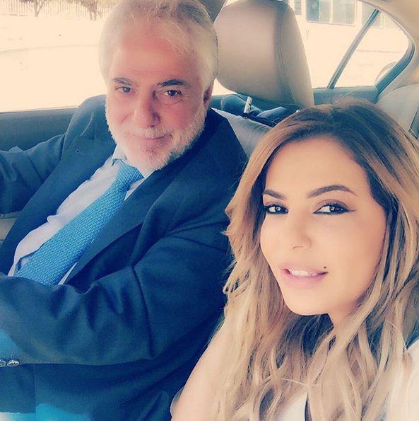 ليليا الأطرش برفقة زوجها
