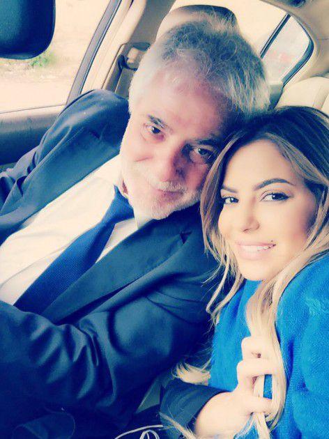 ليليا ووالدها النائب في مجلس الشعب السوري د. نشأت الأطرش