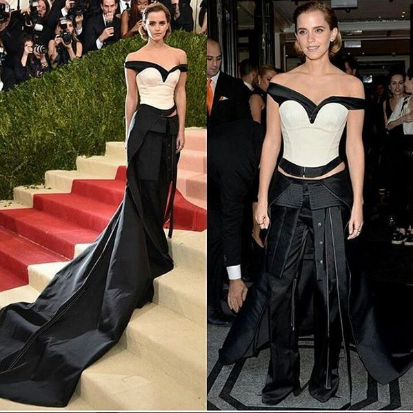 إيما واتسون بفستان من Calvin kelin في حفل Met Gala