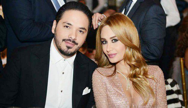النجم اللبناني رامي عياش وزوجته مصممة الأزياء داليدا عياش