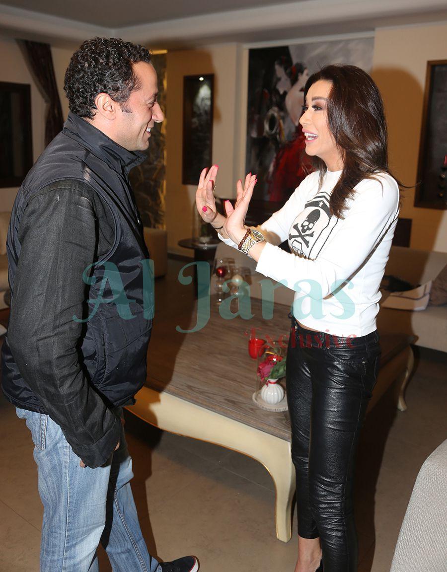 نادين الراسي والمخرج وليد ناصيف
