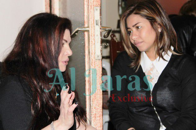 الوفية شيرين عبد الوهاب أيضاً جاءت لتتقدم بواجب العزاء