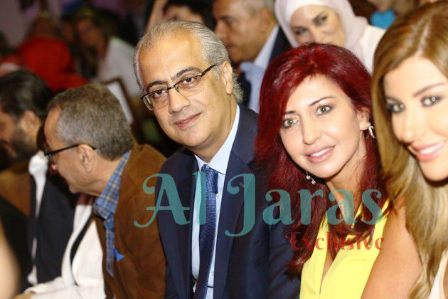المنتج زياد شويري وعقيلته